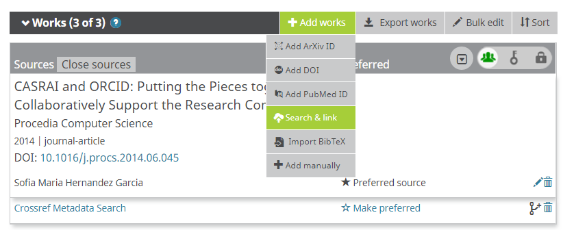 Add works by direct import from other systems – ORCID